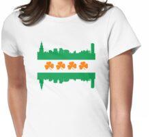 Irish Chicago Flag Skyline Womens Fitted T-Shirt