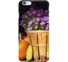 Basket of Asters With Pumpkin and Gourd iPhone Case/Skin