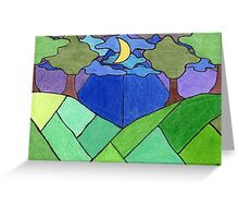 Trees and Hills at Night Greeting Card
