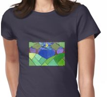 Trees and Hills at Night Womens Fitted T-Shirt