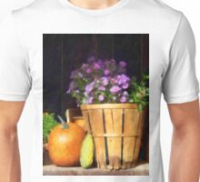 Basket of Asters With Pumpkin and Gourd Unisex T-Shirt