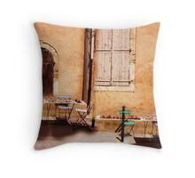eating area in rural France Throw Pillow