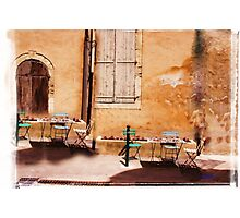 eating area in rural France Photographic Print