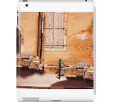 eating area in rural France iPad Case/Skin