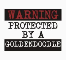 Warning Protected By A Goldendoodle One Piece - Long Sleeve