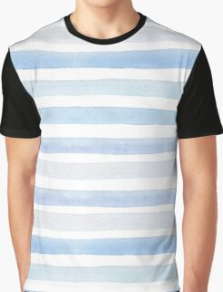 Sea Waves in Watercolor Graphic T-Shirt