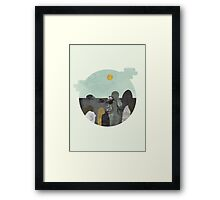 Something about those rocks Framed Print