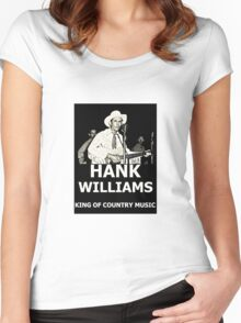 Hank Williams, King Of Country Music Women's Fitted Scoop T-Shirt