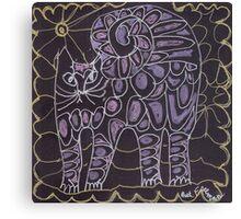 lavender cat Canvas Print