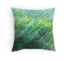 Earth Tones in Oil Pastel Throw Pillow