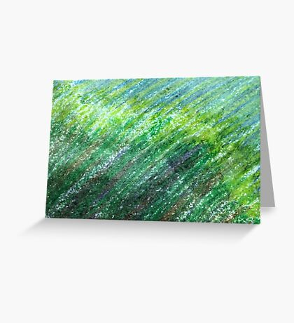 Earth Tones in Oil Pastel Greeting Card