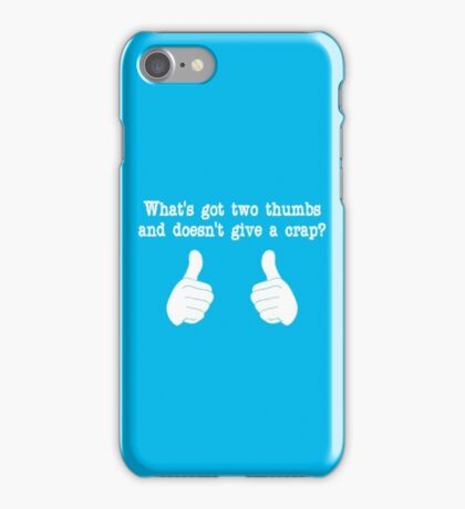 What's got two thumbs? iPhone Case/Skin