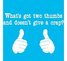 What's got two thumbs? Photographic Print