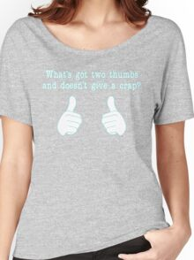 What's got two thumbs? Women's Relaxed Fit T-Shirt