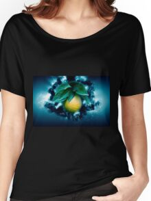 Digitally manipulated Ripe orange on a tree before picking  Women's Relaxed Fit T-Shirt