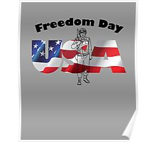 Freedoom Day Of USA Poster