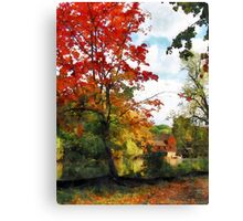Distant Mill  in Autumn Canvas Print