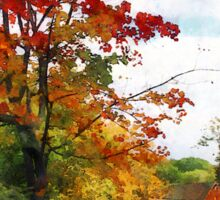 Distant Mill  in Autumn Sticker