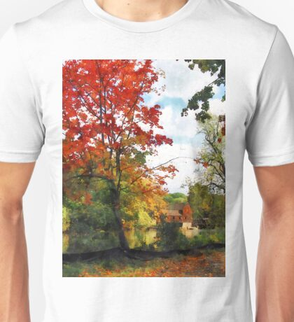 Distant Mill  in Autumn Unisex T-Shirt