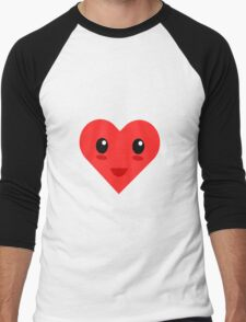 Cute Valentine's Day Heart  Men's Baseball ¾ T-Shirt