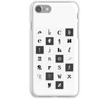 Alphabet Print iPhone Case/Skin