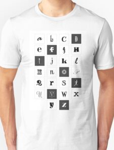 Alphabet Print Unisex T-Shirt