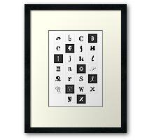 Alphabet Print Framed Print