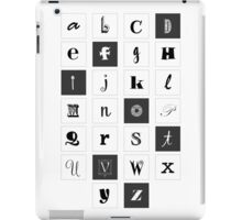 Alphabet Print iPad Case/Skin