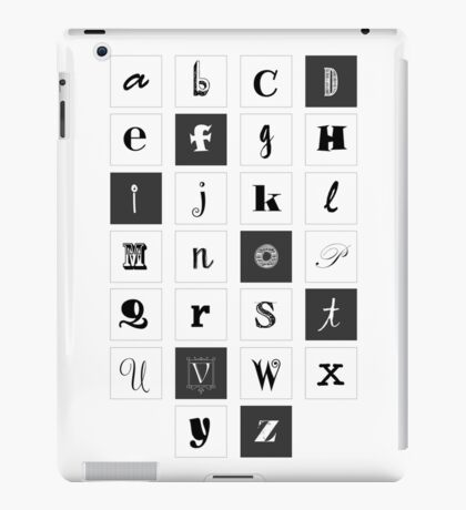 Alphabet Print iPad Case/Skin