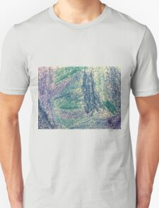 Forest In Shades of Blue Oil Pastel Art T-Shirt