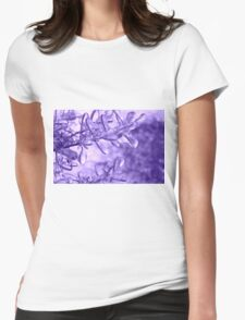 Lavender Ice Womens Fitted T-Shirt