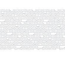 keyboard - letters - space - bottons Photographic Print