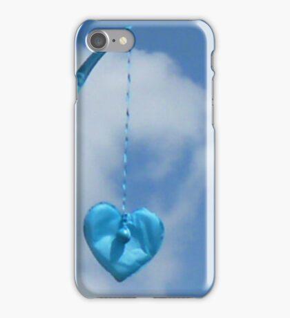 Blue Blue Heart iPhone Case/Skin