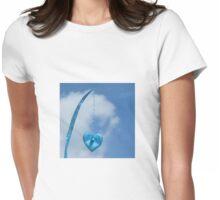 Blue Blue Heart Womens Fitted T-Shirt