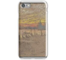 James Abbott McNeill Whistler, American (Lowell, MA  London, England)  Title Sunset; Red and Gold--The Gondolier iPhone Case/Skin