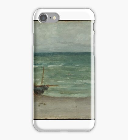 James Abbott McNeill Whistler, Harmony in Blue and Silver, Beaching the Boat iPhone Case/Skin