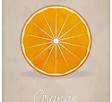 Orange (taupe) - Natural History Fruits by RedHillPrints