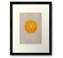 Orange (taupe) - Natural History Fruits Framed Print