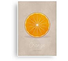 Orange (taupe) - Natural History Fruits Canvas Print