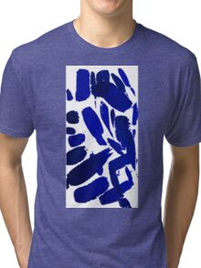 Blue Brush Strokes Tri-blend T-Shirt