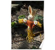 Happy easter with easter rabbit Poster
