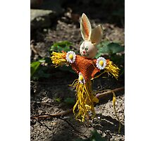 Happy easter with easter rabbit Photographic Print