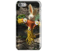 Happy easter with easter rabbit iPhone Case/Skin