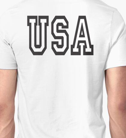 USA, United States of America, Patriot, America, American, US, BLACK on WHITE Unisex T-Shirt