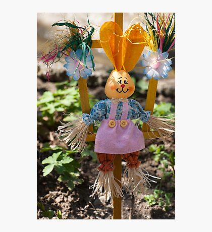 Funny easter bunny Photographic Print