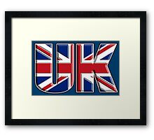 UK, United Kingdom, Flag, Union Jack, British, Blighty, NAVY Framed Print