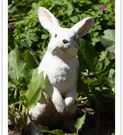 Happy easter white easter bunny Sticker