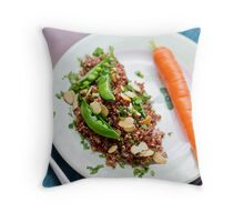 Red Quinoa with Sugar Snap Peas Throw Pillow