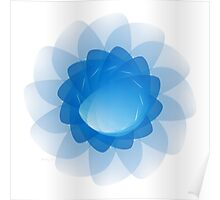 Contrail Abstract Flower Poster