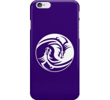 Yin Yang, Dragon, Doctormo, Dring, Drang, Eastern, WHITE on Deep Purple iPhone Case/Skin